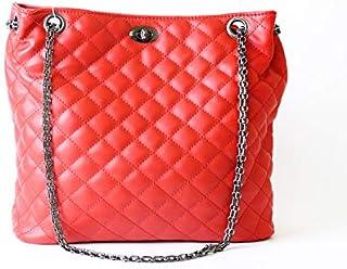 لينز حقيبة بوكيت نسائية ، جلد صناعي - احمر