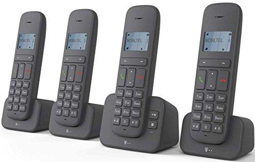 """Sinus 40318195 \""""CA 37\"""" Quattro Schnurlostelefon (Dot-Matrix-Display, Anrufbeantworter) anthrazit"""
