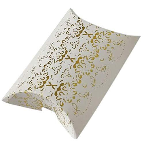 MINGRONG-dzsw 10pcs Almohada en forma de cajas de caramelo bolsas de embalaje regalo boda Navidad favor