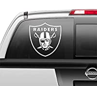 Las Vegas Raiders Oakland Window Sticker Vinyl Decal, 5 Inch, 5 sizes and 3 colors to choose from