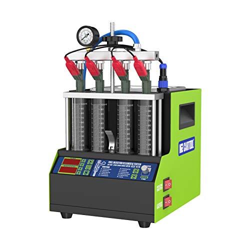 MR CARTOOL Mini máquina de Limpieza de inyectores V308, Limpiador de Sistema de Combustible ultrasónico automotriz, Kit de probador de inyección para Gasolina, diésel, Motocicleta, 4 Cilindros, 220 V