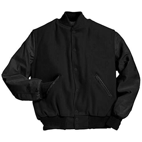 Holloway Varsity Jacke aus Wolle mit Lederärmeln, hohe Größe (5XL)