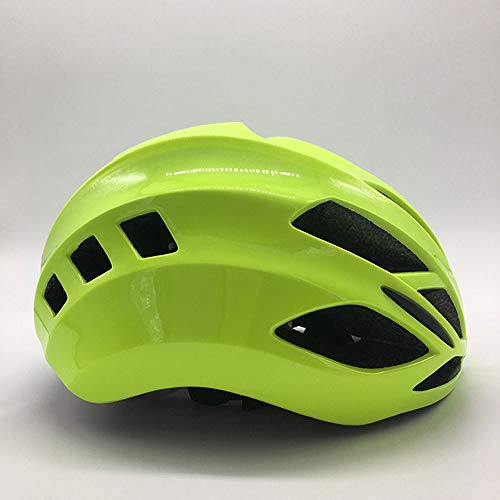 U/D Lightweight Helmet Bicycle Adult Riding Men And Women Breathable Helmet With Adjustable (Color : Yellow)