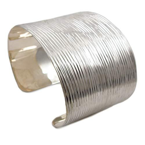 Armband 925 Sterling gebürstetes Silber groß