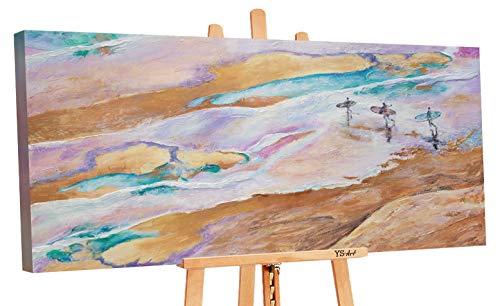 YS-Art Premium | Acryl Gemälde Meerabenteuer | Handgemalte Leinwand Bilder | Wandbild Acrylgemälde | Kunst| Leinwand | Unikat | Mehrfarbig | PS27 (120 x 60 cm)