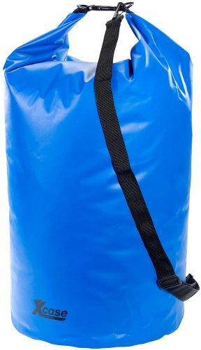 Xcase Schwimmsack wasserdicht: Wasserdichter Packsack 70 Liter, blau (Schwimmbeutel wasserdicht)