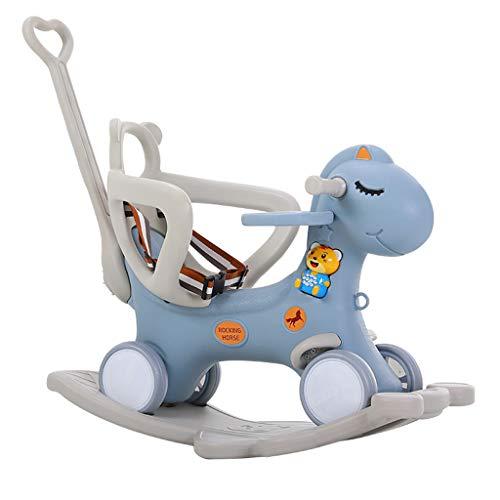 Carro de bebe Caballo Mecedora para niños de Doble Uso Cochecito Multiuso bebé de Juguete de...