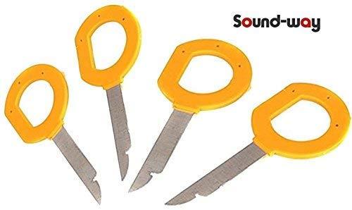 Sound Way Autoradio Entriegelungsbügel Ausbauschlüssel Entriegelungswerkzeug passend kompatibel mit Volkswagen, Audi, Ford, Mercedes