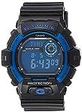 Casio Men's Sport G8900A-1 Black Resin Quartz Watch with Blue Dial