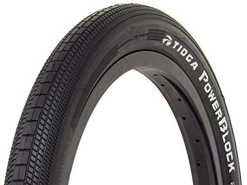 TIOGA BMX Powerblock Reifen BMX, Unisex Erwachsene, Schwarz