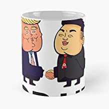Best Friends Trump And Kim Jong Un Classic Mug - The Funny Coffee Mugs For Halloween, Holiday, Christmas Party Decoration 11 Ounce White-rabbitair.