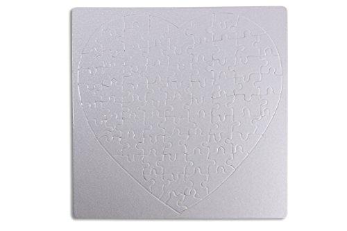 Kopierladen Puzzle Herz zum selbst bemalen und gestalten, Leeres Puzzle in Herzform, Blanko-Puzzle, 75 Teile, ca. 190 x 190 mm