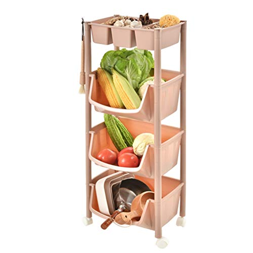 Learn More About Fruit and Vegetable Rack Kitchen Shelf Multi-layer Stackable Basket Bathroom Shelf ...