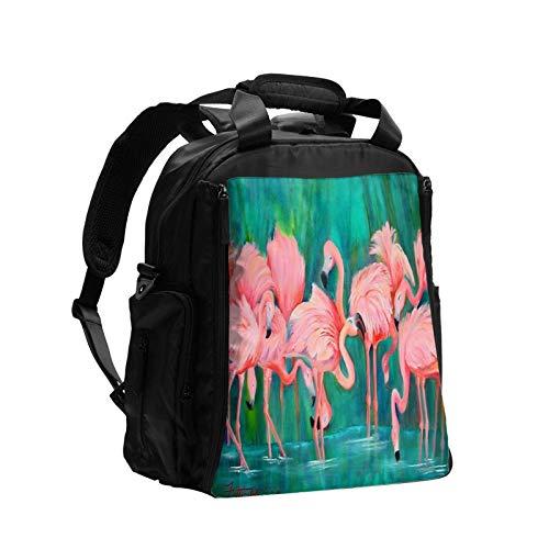 Pintar flamenco gran capacidad multifunción bolsa de pañales mamá papá bolsa de cuidado del bebé bolsa de pañales bolsa de enfermería