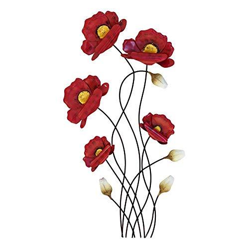 Décoration murale de 66 cm Branches de coquelicots rouges - Article 673473