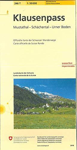 246T Klausenpass Wanderkarte: Muotatal - Schächental - Urner Boden (Wanderkarten 1:50 000)
