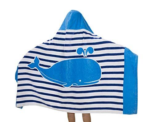 Repuhand 100% Cotone Asciugamano Bambini Poncho con Cappuccio per i Ragazzi e Le Ragazze Beach Wrap Bambini con Cappuccio Swim Spiaggia Asciugamano da Bagno