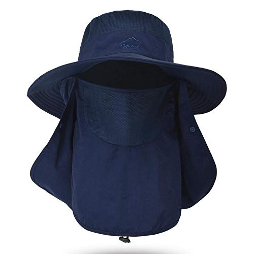 RUIRUI Fischer-Hut-Sommer-Sonnenschirm-Abdeckung-Gesicht mit mehrfach facettierter Sonnencreme-Feuchtigkeitsabsorption und schnelles Trocknende Anti-Insekt-Angeln mit Atemabbau und Frauen