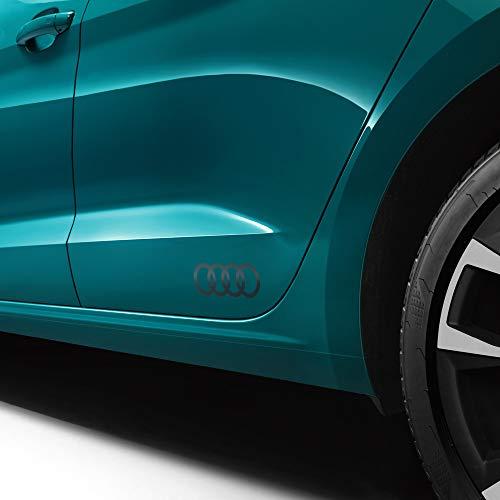 Audi 83F0643171RR Lámina decorativa con emblema de anillos, color gris platino mate