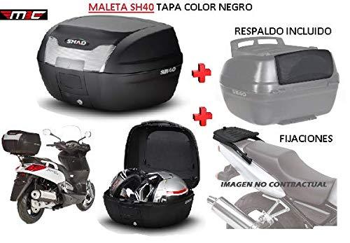 SHAD Kit BAUL Maleta Trasero SH40 litros + FIJACION + Respaldo Pasajero Regalo - Honda CBR 600F 2001-2008