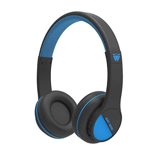 ANT AUDIO Treble 500 Wireless Bluetooth On Ear Headphone with Mic (Black and Blue)