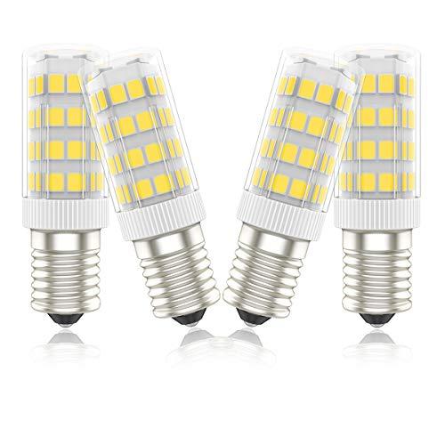 Phoenix-LED E14 Lampe 5W,Leuchtmittel ersetzt 40W Halogenlampen,Warmweiß,450lm,Energiesparlampe für Kühlschrank Kronleuchte Mikrowellen Dunstabzugshaube Wandlampe, (4er-Pack)