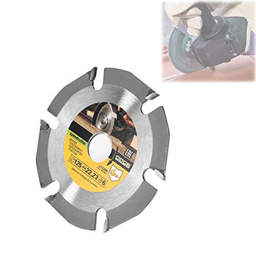 Multitool Grinder Saw Disc Circular Saw Blade Grinding Carbide Tipped Wood Cutting Disc, Wood Carving Disc for Angle Grinder (125mm 6T)