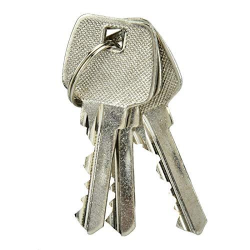 Folany Cilindro de Cerradura, Cilindro de Cerradura de Puerta de 60 mm, con Llaves Robusto y para Puertas de Aluminio Puertas de Madera