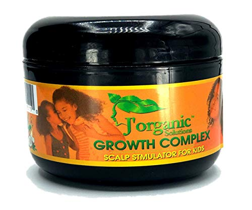 JOrganic Solutions hair growth Scalp stimulator ( Hair Grease for Kids) Softer, shinier, healthier hair, with Lanolin, Sweet Almond Oil, Castor Oil & More