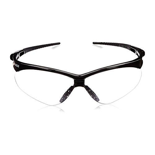 KIM CLARK 25676 Jackson Safety V30 Nemesis Safety Glasses, Soft Touch Temples, Universal, Black/Clear