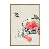 フルーツシリーズホーム壁画中国風ラッキーレストランウォールダイニングテーブルの背景ウォールキッチン壁画絵画レストランの装飾を意味します 0128 (Color : A, Size : 70×90cm)