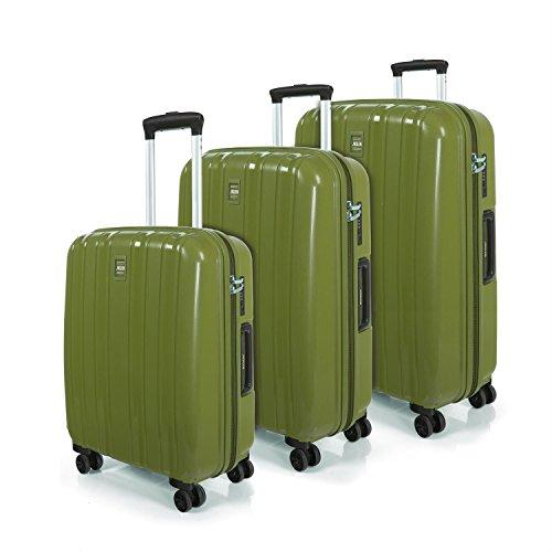 Jaslen , Set di valigie Verde verde