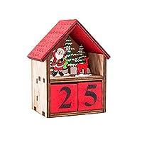 Dimensioni: 15 x 9 x 6 cm, può essere regolata manualmente, ogni posto, cartoni animati, aumenta la mosfatura natalizia, cabine illuminate, decorazioni creative di Natale, per un maggiore piacere per il vostro Natale. Ogni casa è dotata di una candel...