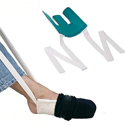 Calcetines para hombres mayores, equipo de asistencia para mujeres embarazadas evitan doblarse la cintura, calcetines para vestir, herramientas para personas mayores con discapacidad, estilo f