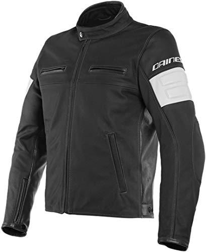 Dainese San Diego Chaqueta perforada de piel para motocicleta, color negro, talla 52