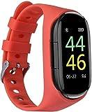 WYNCO M1 Smart Bracelet Wireless Bluetooth Headset Running Music Wristband Earphone Heart Rate Blood Pressure Fitness Tracker (Orange)