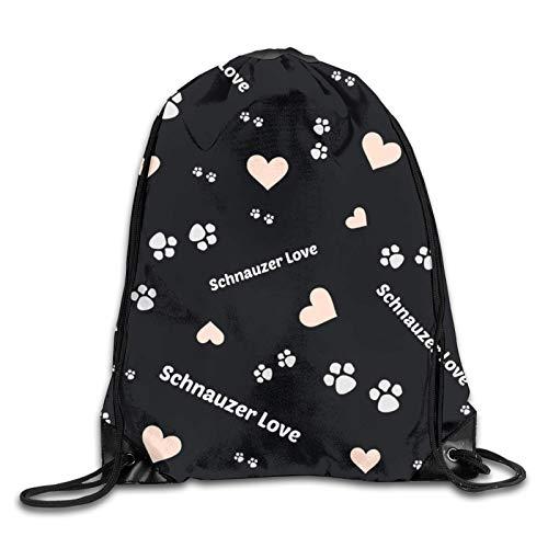 GMGMJ Schnauzer Dog 0 - Mochila deportiva con cordón para yoga, bolsa de hombro para senderismo, viajes al aire libre