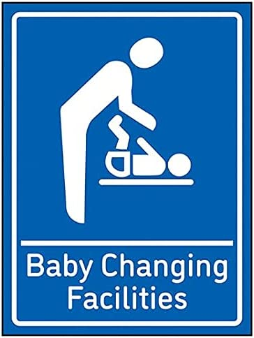 VSafety Baby Changing Facilities - 200mm x 300mm - Blue 1mm Rigid Plastic