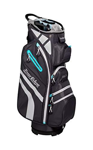 Ladies Tour Edge Hot Launch 4 Cart Bag Silver/Blue (14-Way top) Golf