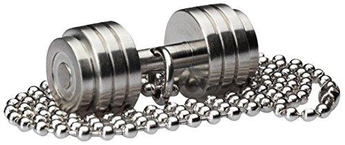 WHYRAL Bodybuilding GYM Edelstahl Fitnesskette Hantel Kette in 21 Varianten (Hantel 1 - Silber Matt)