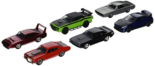 Fast & Furious Set 6 + 1 Modellautos in 1:55 Build N Collect Wave 2 Jada Toys 14026