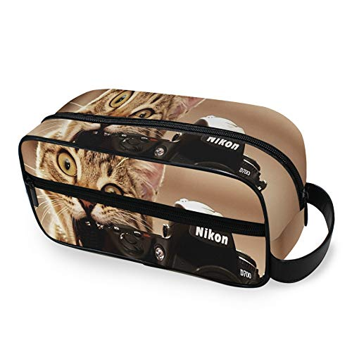 Cats Bite Funny Cameras Gatitos Cámara de Fotos Bolsa de Viaje para...