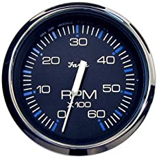 "FARIA CHESAPEAKE BLACK SS 4\"" TACHOMETER 6000 RPM GAS \\""Item Category: Boat Outfitting\\"" (Sold Per )"