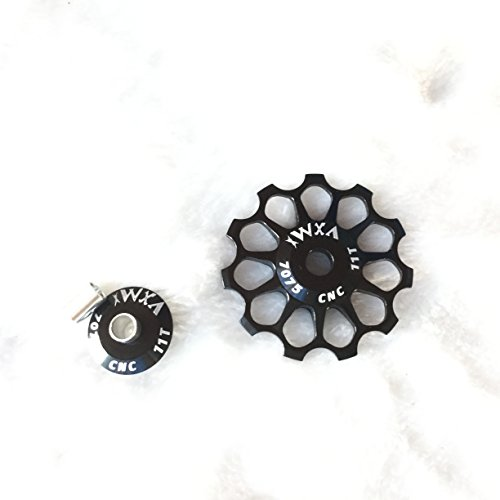 Rueda de desviador Jockey para bicicleta de carretera, MTB, guía de cerámica 11T, 12T, 13T, 14T, 15T, 16T, 17T, color Negro , tamaño 14T