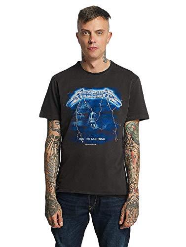 Amplified Herren Metallica -Ride The Lightning T-Shirt, Grey (Charcoal Cc), XXL