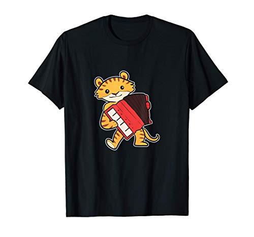 Tigre acordeón del jugador del acordeón Camiseta