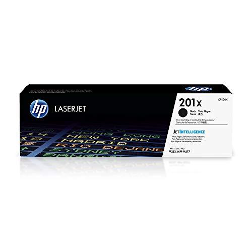 HP 201X | CF400X | Toner Cartridge | Black | Works with HP Color LaserJet Pro M252dw, M277 series | High Yield