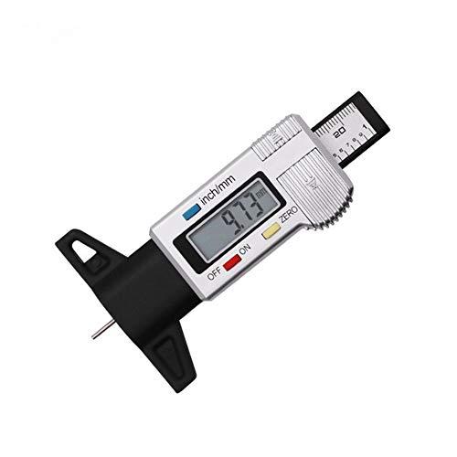 Eficiencia Digital neumático del coche de la profundidad del neumático Medidor de espesor herramienta Medidor Medidor pies de rey banda de rodadura de neumáticos pastillas de freno de zapatos Sistema