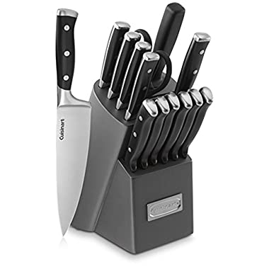 Cuisinart C77TR-15PB Triple Rivet Block Set, 15-Piece, Gray