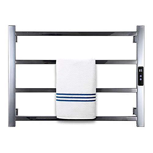 Toallero eléctrico, Calentador de toallas con temporizador Soporte de riel de toalla con calefacción eléctrica de montaje en pared Temporización de 1-8 h con 4 barras 68W Ahorro de energía (PLUGIN)